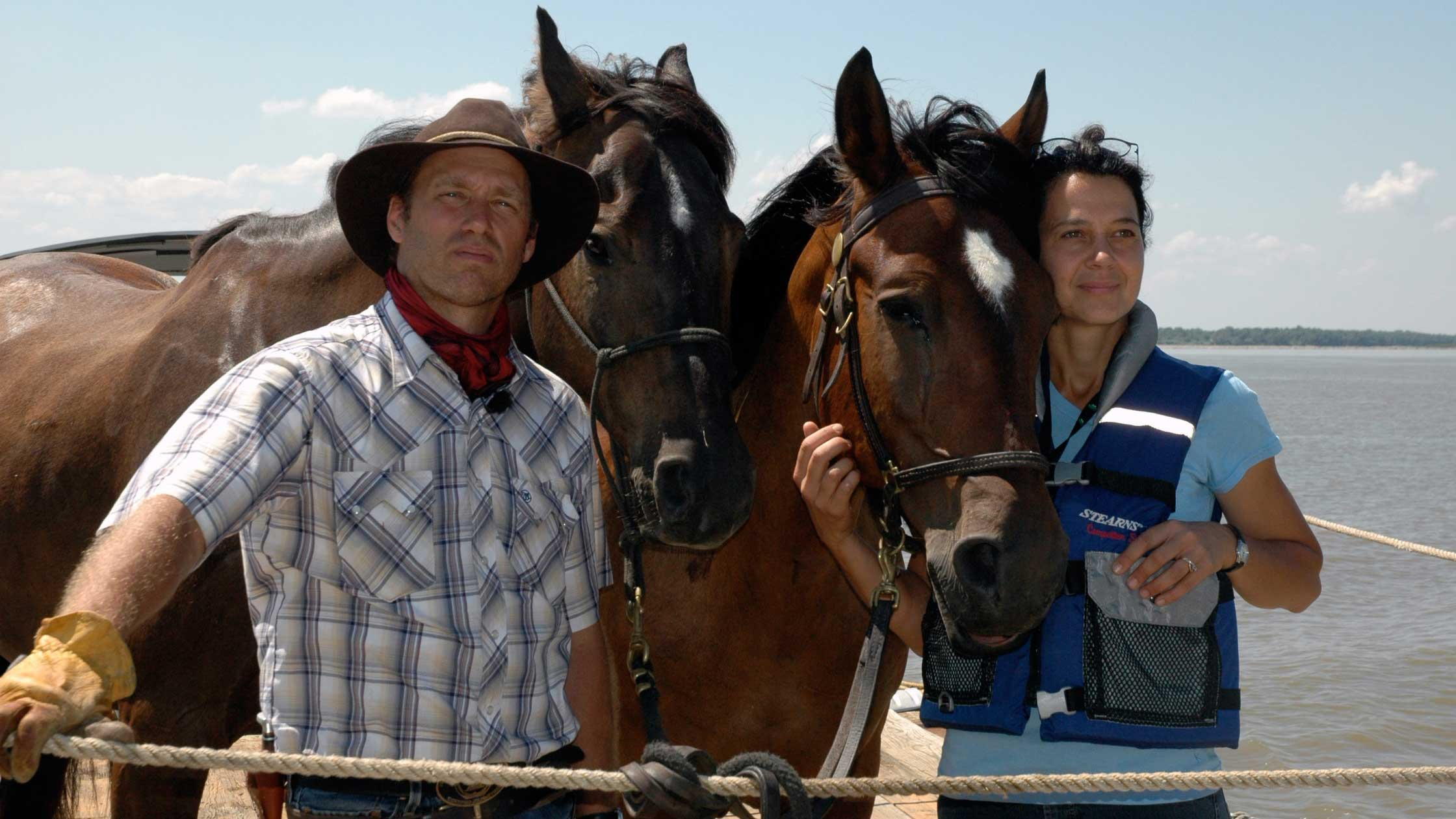 Tournage - La Légende du cheval Canadien - Louise Leroux
