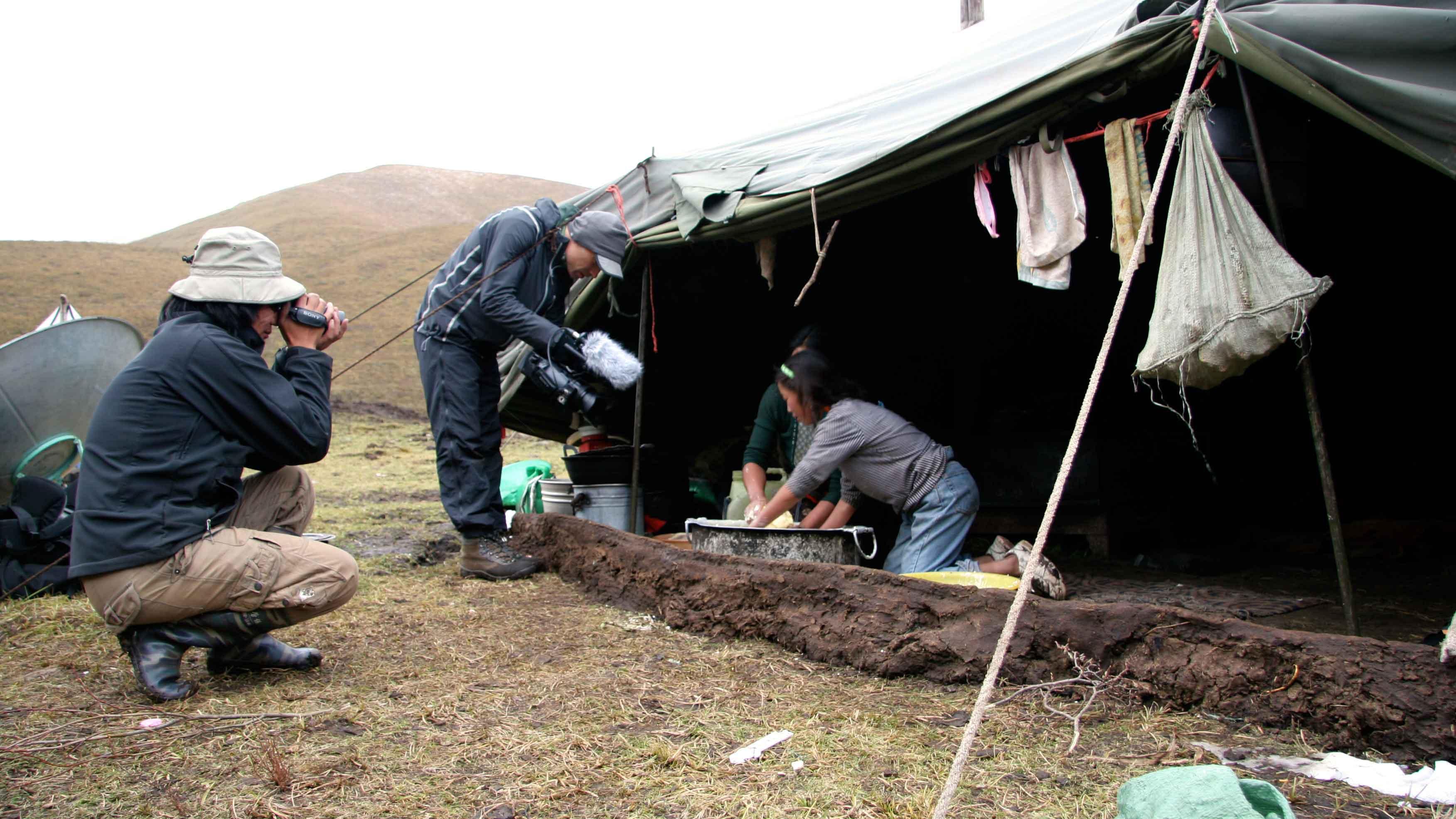 Tournage - Tibet : terre des braves - Geneviève Brault