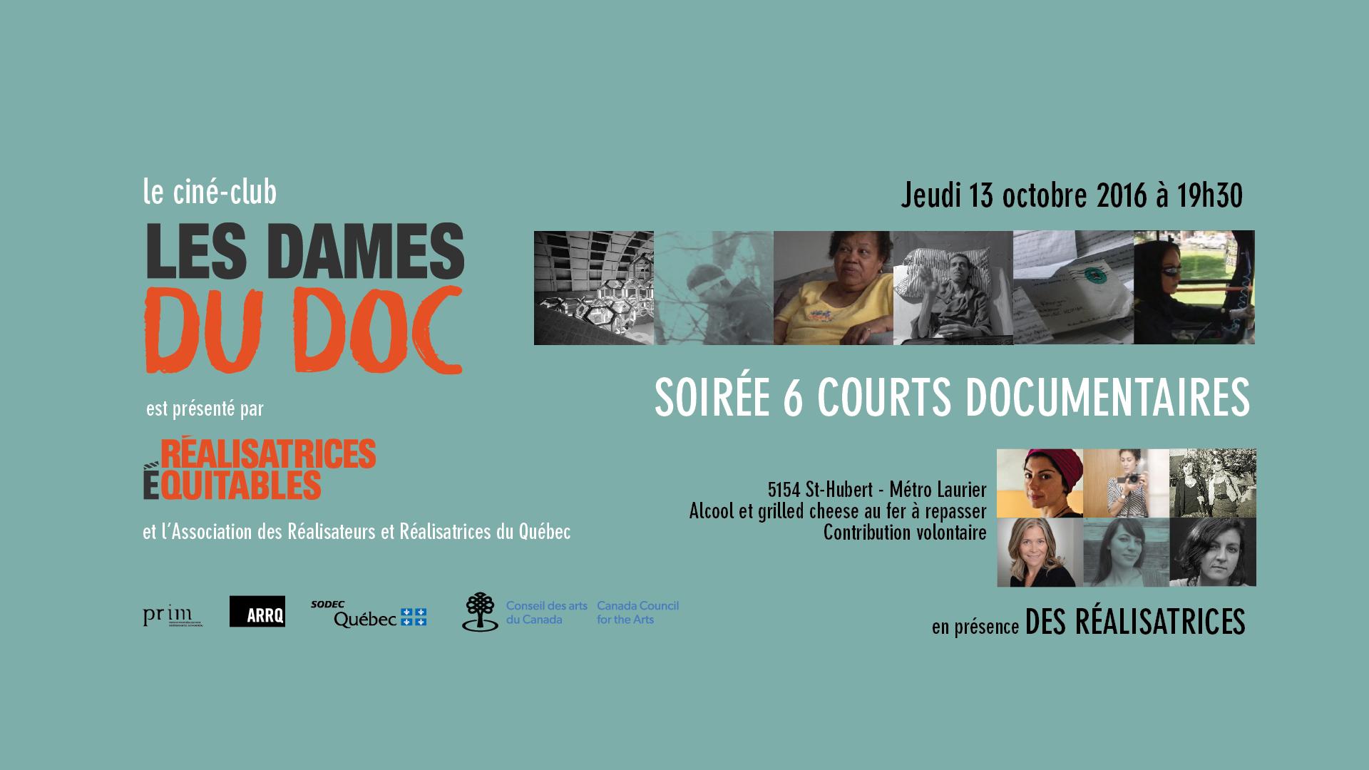 Ciné-club Les Dames du Doc, soirée 6 court documentaires