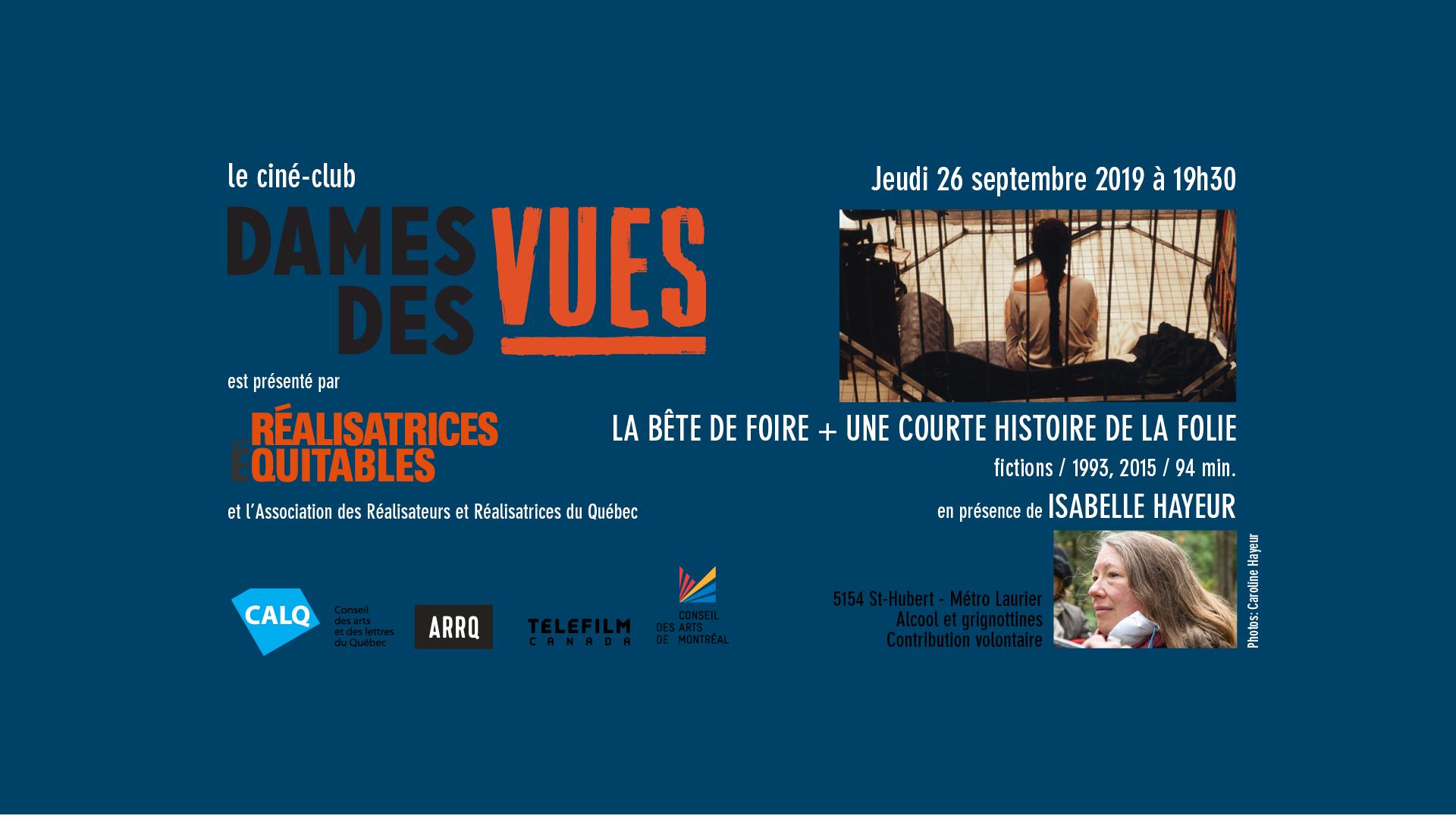 Ciné-club Isabelle Hayeur 2019